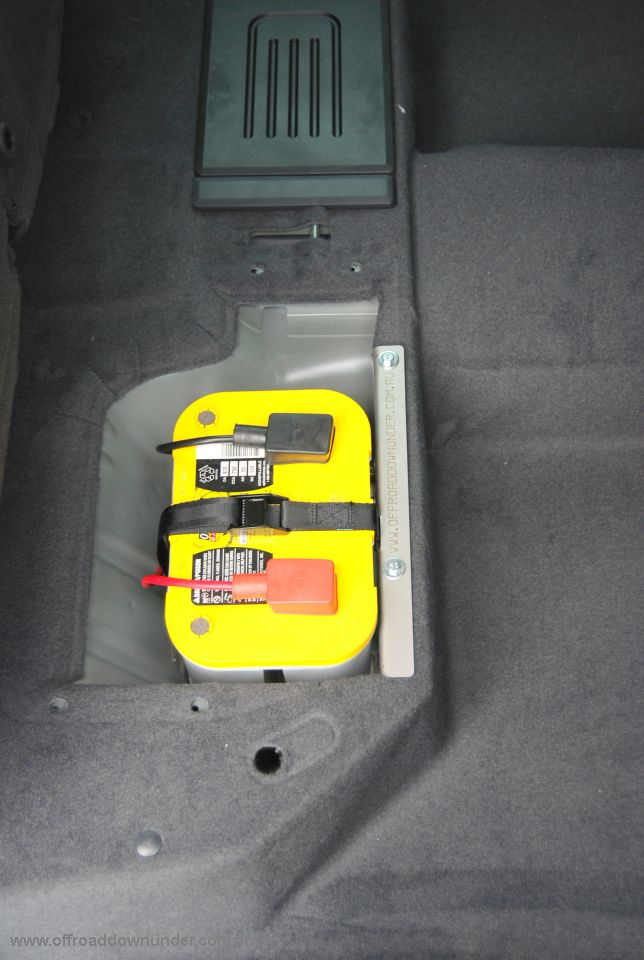 dual battery tray stainless steel ford px ranger mazda bt50 09 optima battery fitted to the px ranger 960