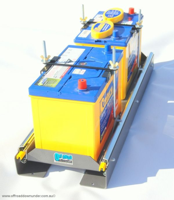 Double Battery Carrier side-out : suits Caravans