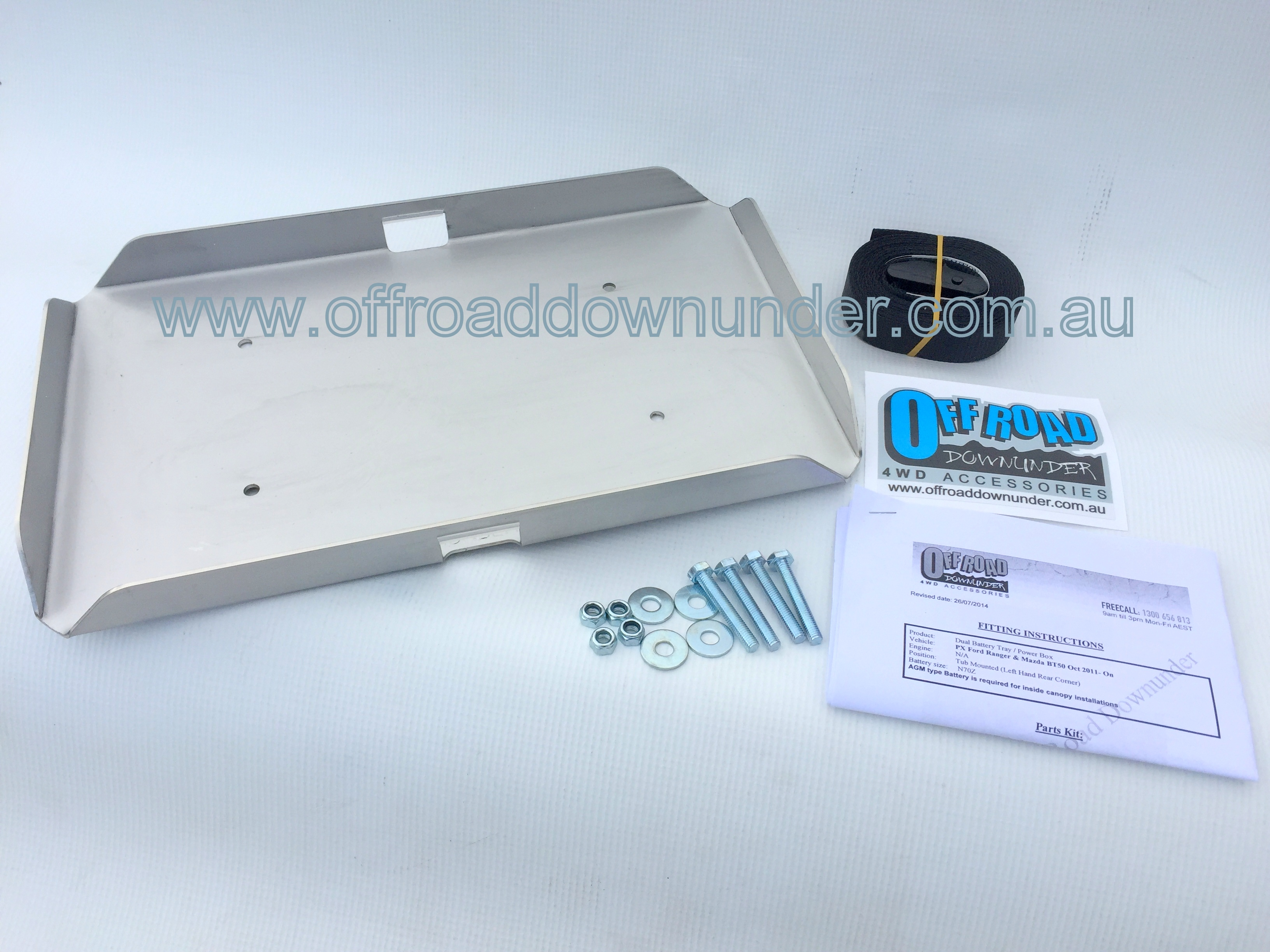 Ford PX Ranger & Mazda BT50, Current Model - Dual Battery Tray/Power ...