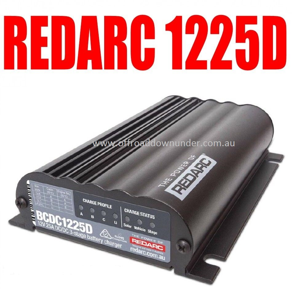 Redarc Bcdc1225d In Vehicle Charger Quot Dual Input Quot With