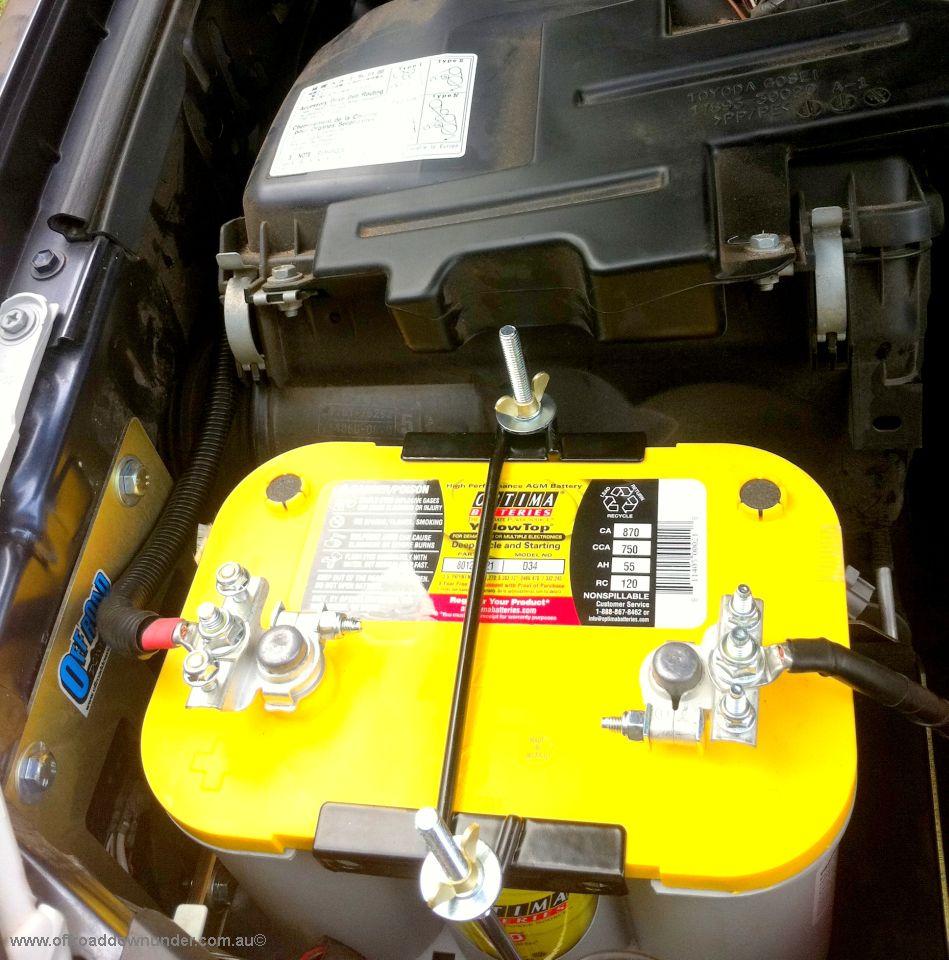 Dual Battery Tray - Toyota Prado 120 series - Turbo Diesel