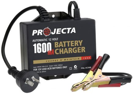 AC250B Automatic 12V 2.5A* 1600mA Battery Charger Charge N' Maintain