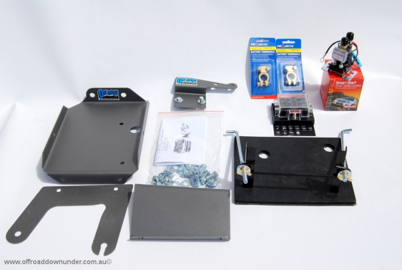 (System / Kit) Dual Battery Tray: Mazda BT50 & Ford Ranger PJ+PK (2007-2011) 2.5lt & 3lt T/Diesel engines