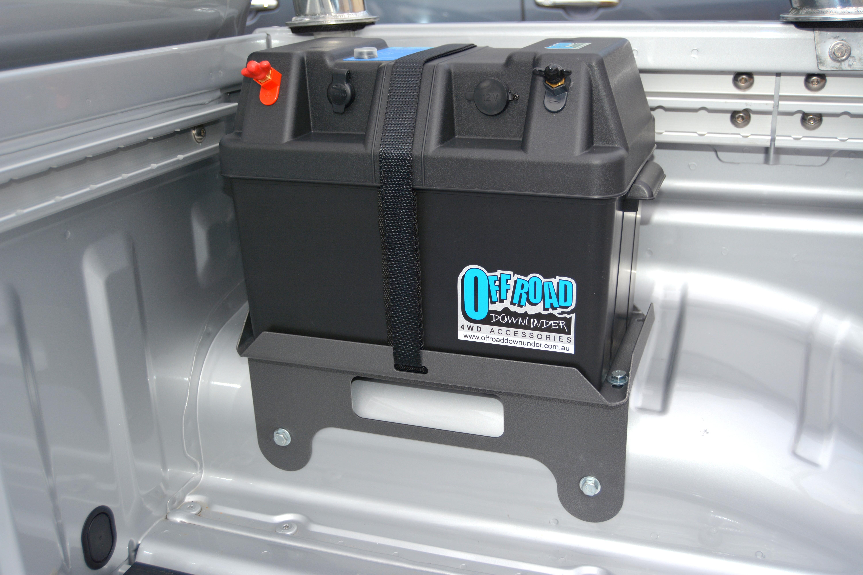 Nissan Navara D40 Dual Battery Tray Power Box