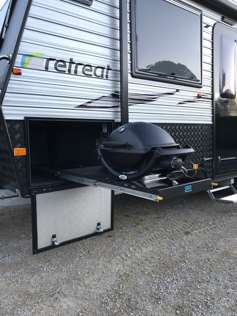 Premium Bbq Slide Out System Suits Weber Baby Q In A